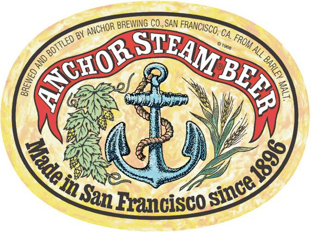 Etiqueta de Cerveza Anchor Steam